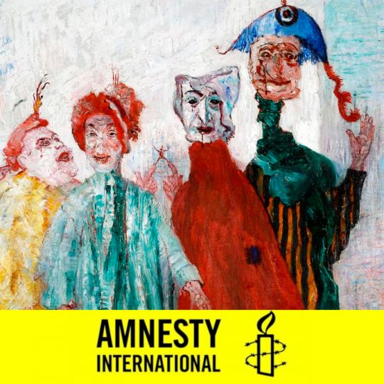 Affiche du projet art et droits de l'homme d'amnesty