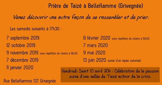 Taizé Belleflamme 2019-2020